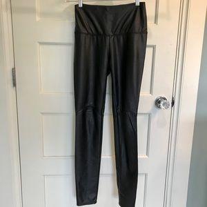 High rise Lysse vegan leather black leggings XS